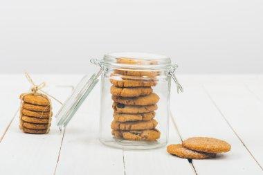 delicious cookies in jar