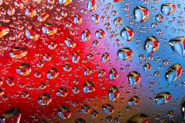 Colorful Water drops background.