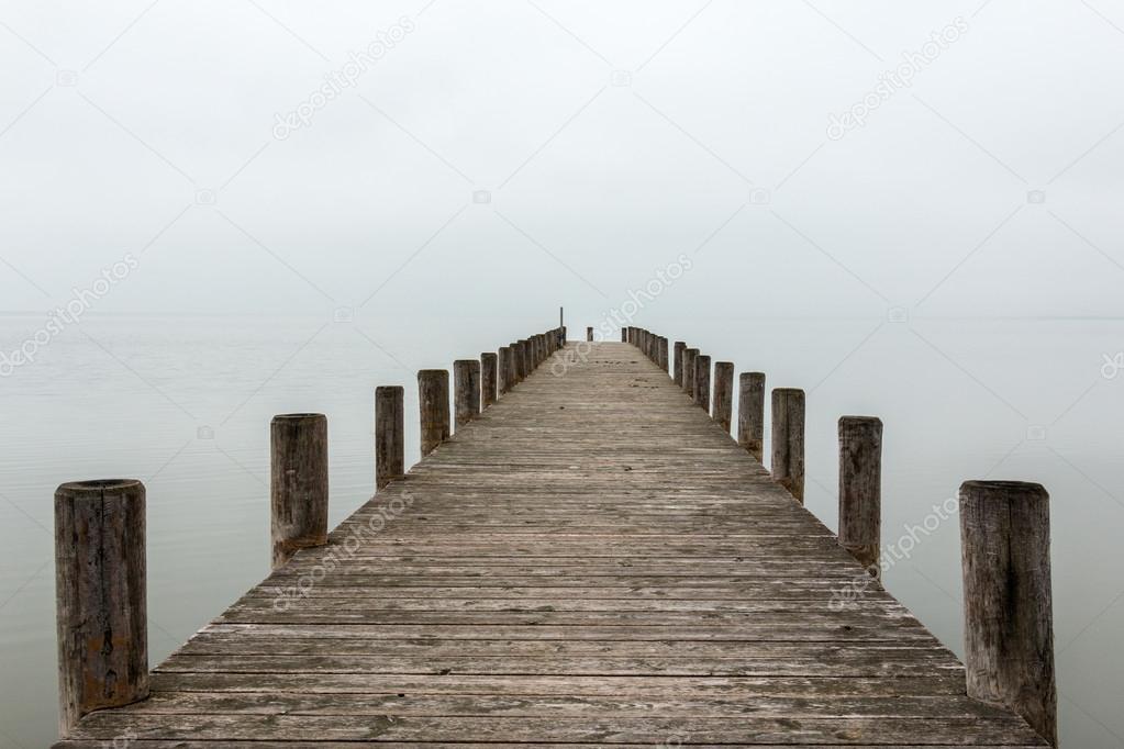 Jetty in foggy weather (horizontal)