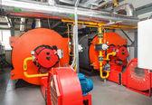 Fotografie Industrie-Heizkessel-Gasbrenner mit Lüfter