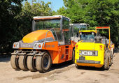 Speciální silniční stroje pro asfaltování stavební práce