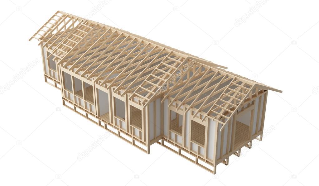Nueva encuadre de construcción madera hogar corte y cartón yeso ...