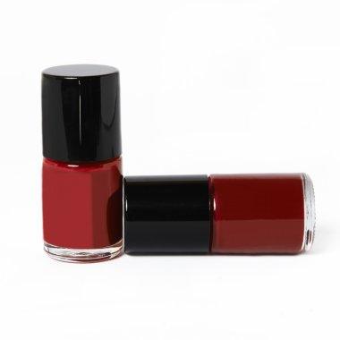 bottles of red nail polish