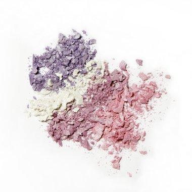 crushed colorful eyeshadow