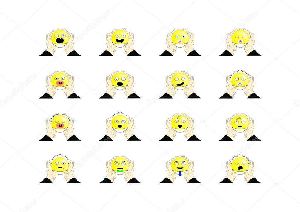 The Set Of Emoticons In Diapers Stock Vector Rinofrvyandex