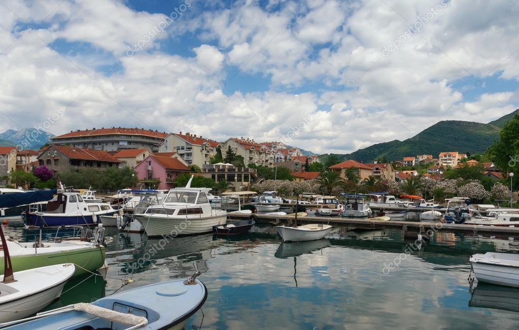 Tivat city, marina Kalimanj. Montenegro