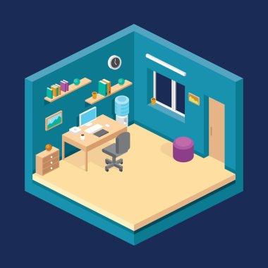 illustration of isometric room