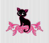 Schwarze Katze-Vektor-illustration