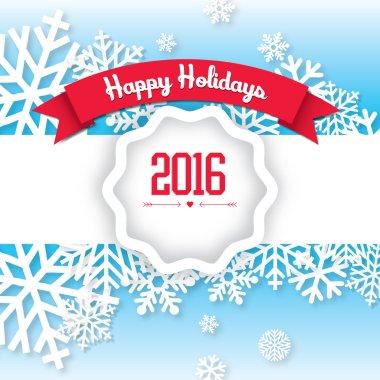 Happy Holidays - Merry Christmas & Happy New Year clip art vector