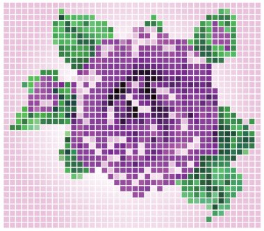 graphic pixels flower texture