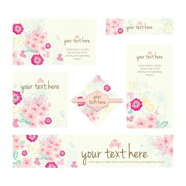 Floral Patterns vector illustrations CARDS