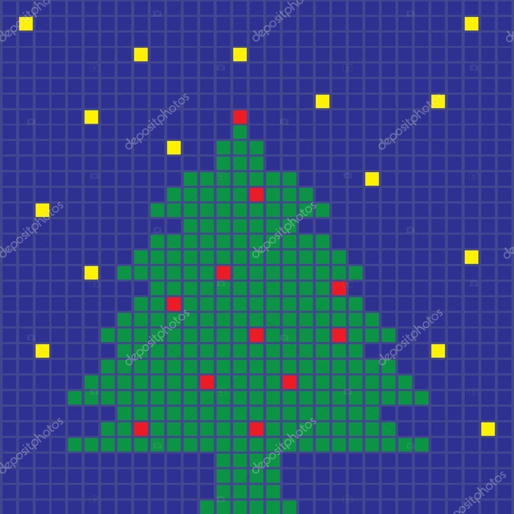 Pixel Art Noel Sapin Ecio2010