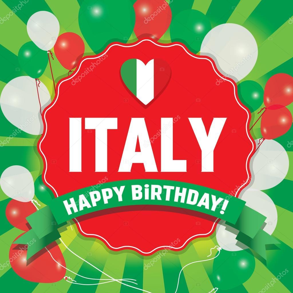 Joyeux Anniversaire Italie Joyeux Jour De Lindépendance Image