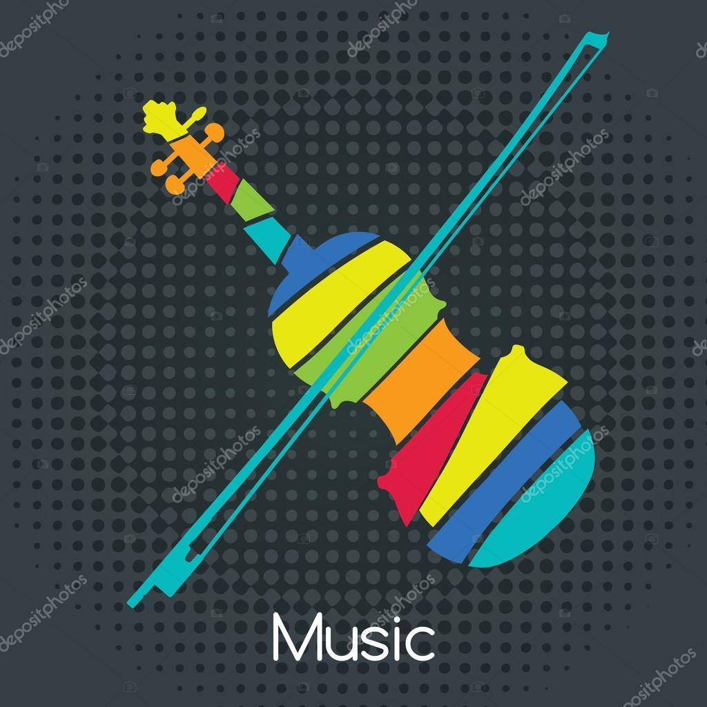 Acoustic Retro Violin
