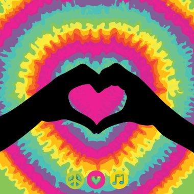 Make Love Not War - Hippie style.