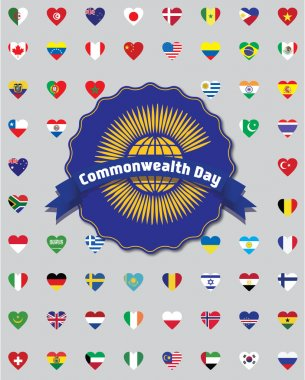 Commonwealth Day. Commonwealth of Nations (CIS) flag.