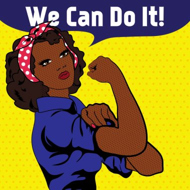 We Can Do It. Iconic woman's fist symbol