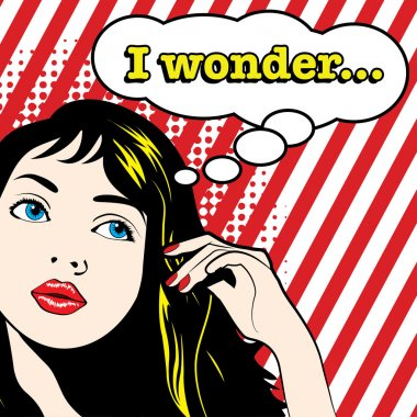 Pop Art Woman - I WONDER!