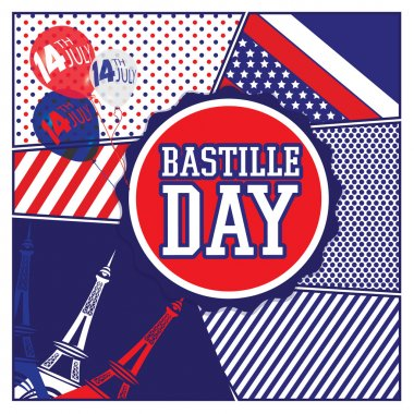 Happy Bastille Day. Eiffel Tower.