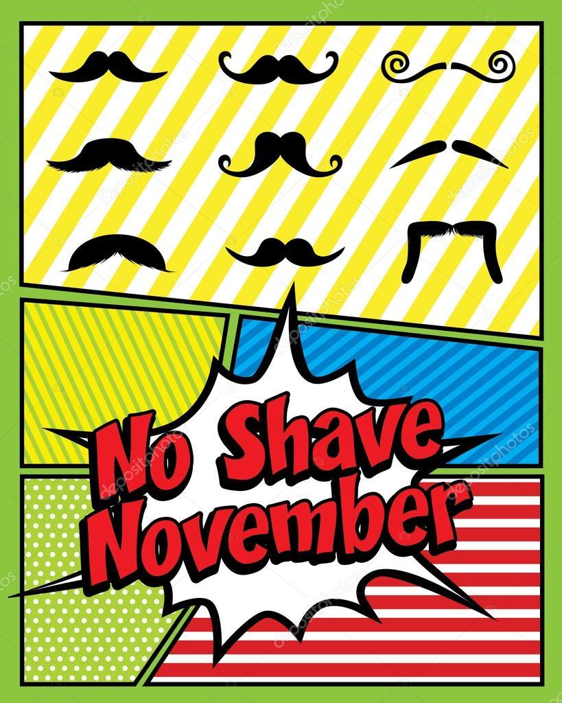 No Shave November. Pop art