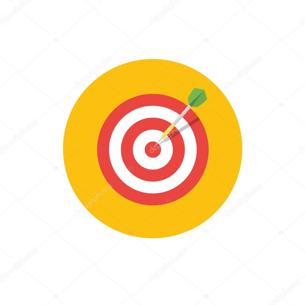 Goal icon target symbol in flat style round color vector icon target symbol in flat style round color vector icon stock buycottarizona Image collections