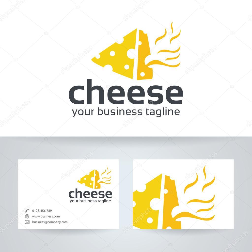Logo Vectoriel Fromage Avec Modele De Carte Visite Illustration Stock