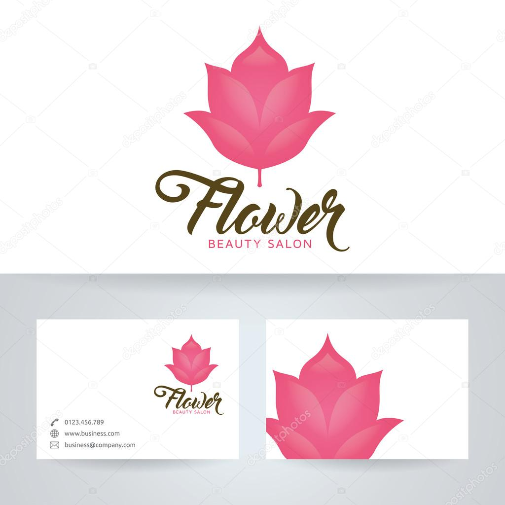 Dermatology logo stock vectors royalty free dermatology logo flower beauty salon vector logo with business card template royalty free stock illustrations magicingreecefo Images