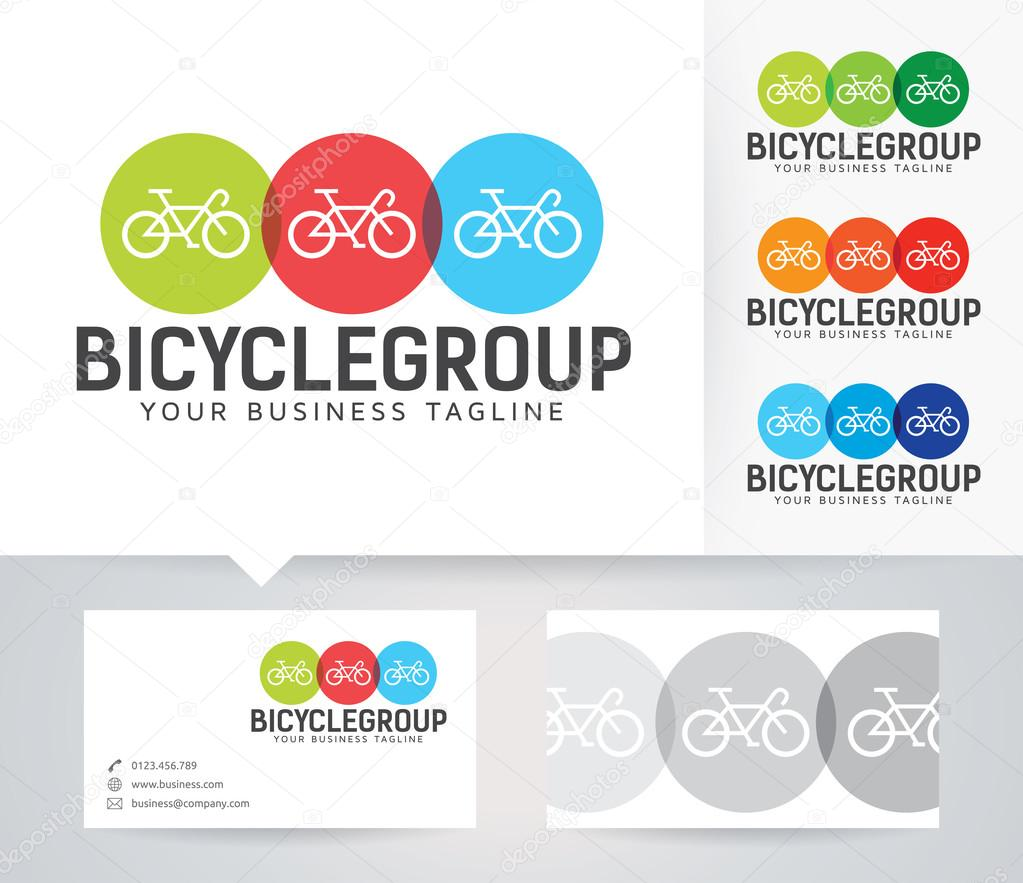 Bicycle Business vector logo with alternative colors and business ...