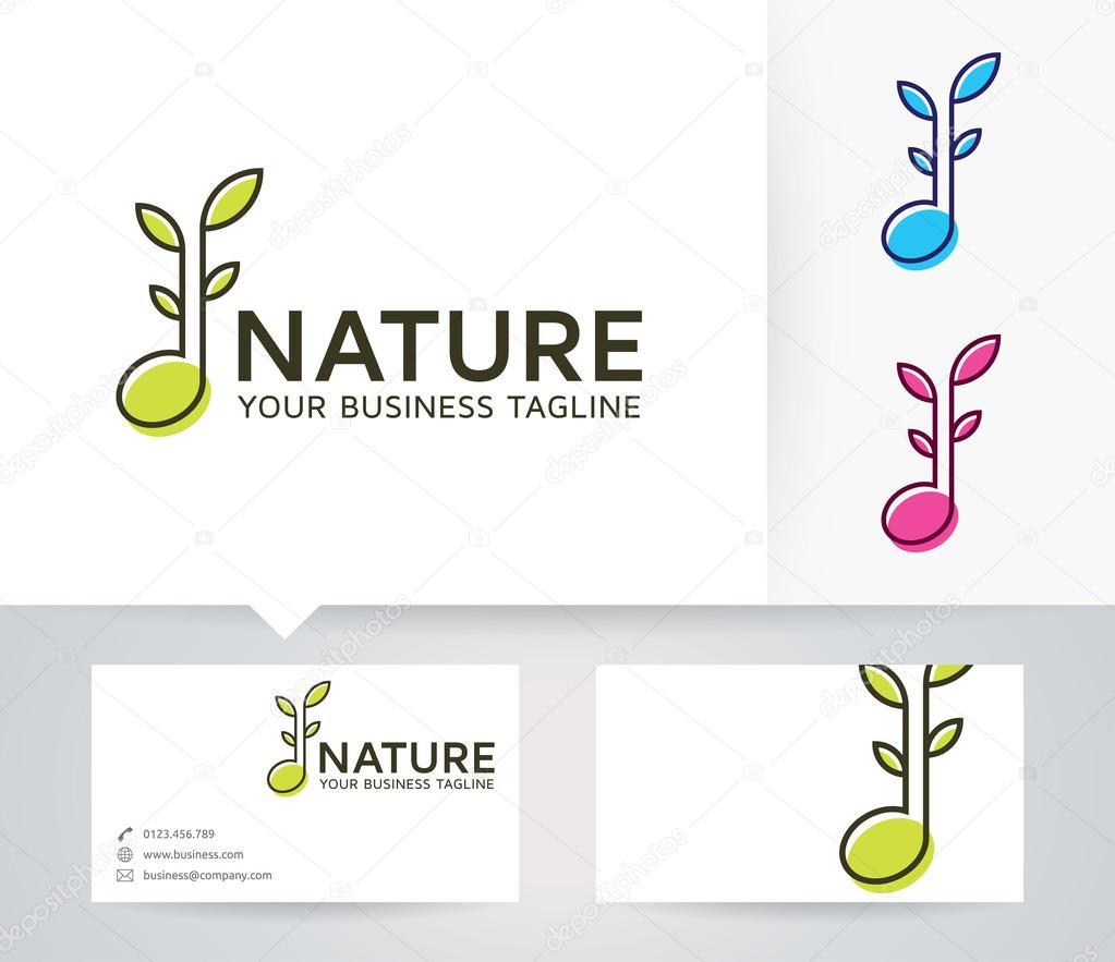 Logo De Vectoriel Musique Nature Avec Autre Modle Couleurs Et Carte Visite Image