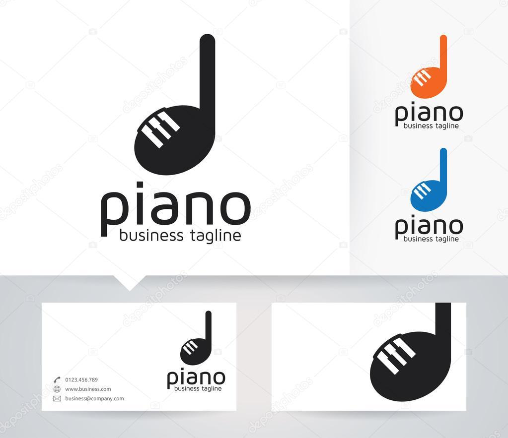 Logo Vectoriel Piano Avec Autre Modle De Couleurs Et Carte Visite Image Vectorielle