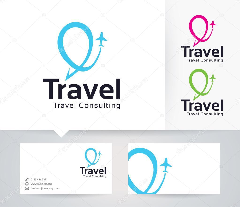 Reise-Consulting-Vektor-Logo mit alternativen Farben und ...