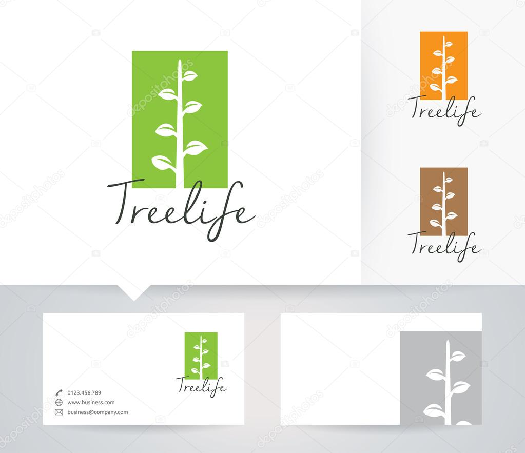 Logo Vectoriel Vie Avec Autre Modele De Couleurs Et Carte Visite Darbres Illustration Stock