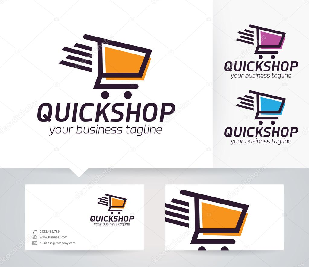 Logo De Vectoriel Boutique Rapide Avec Le Modle Carte Visite Image Vectorielle