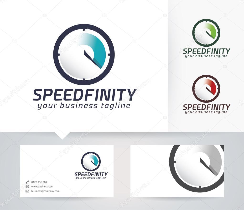 Vitesse Du Logo Vectoriel Infinity Avec Modle De Carte Visite Image Vectorielle