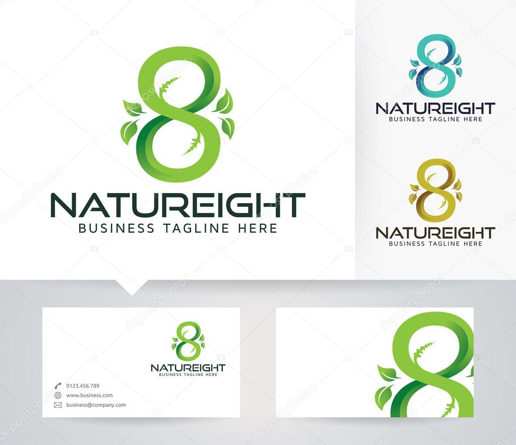 Infinity nature eight vector logo with alternative colors and infinity nature eight vector logo with alternative colors and business card template vetores de stock reheart Images