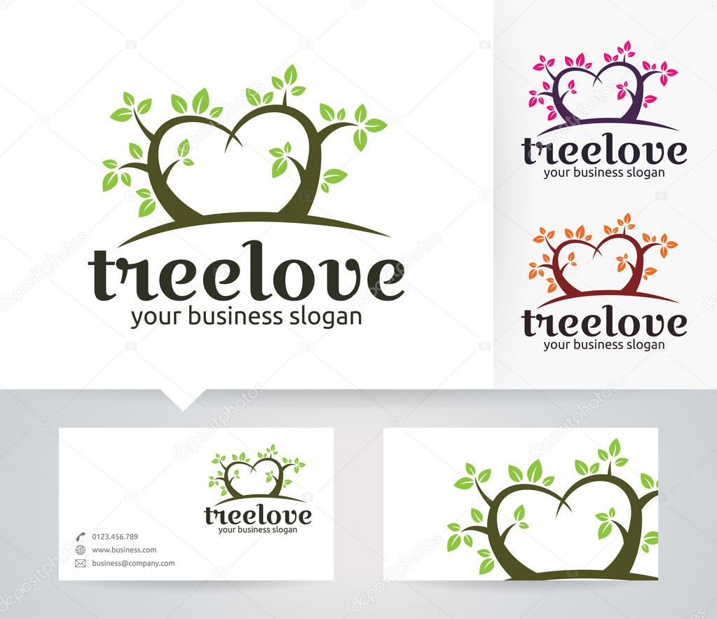 Tree love vector logo with alternative colors and business card tree love vector logo with alternative colors and business card template stock vector 116607570 magicingreecefo Choice Image