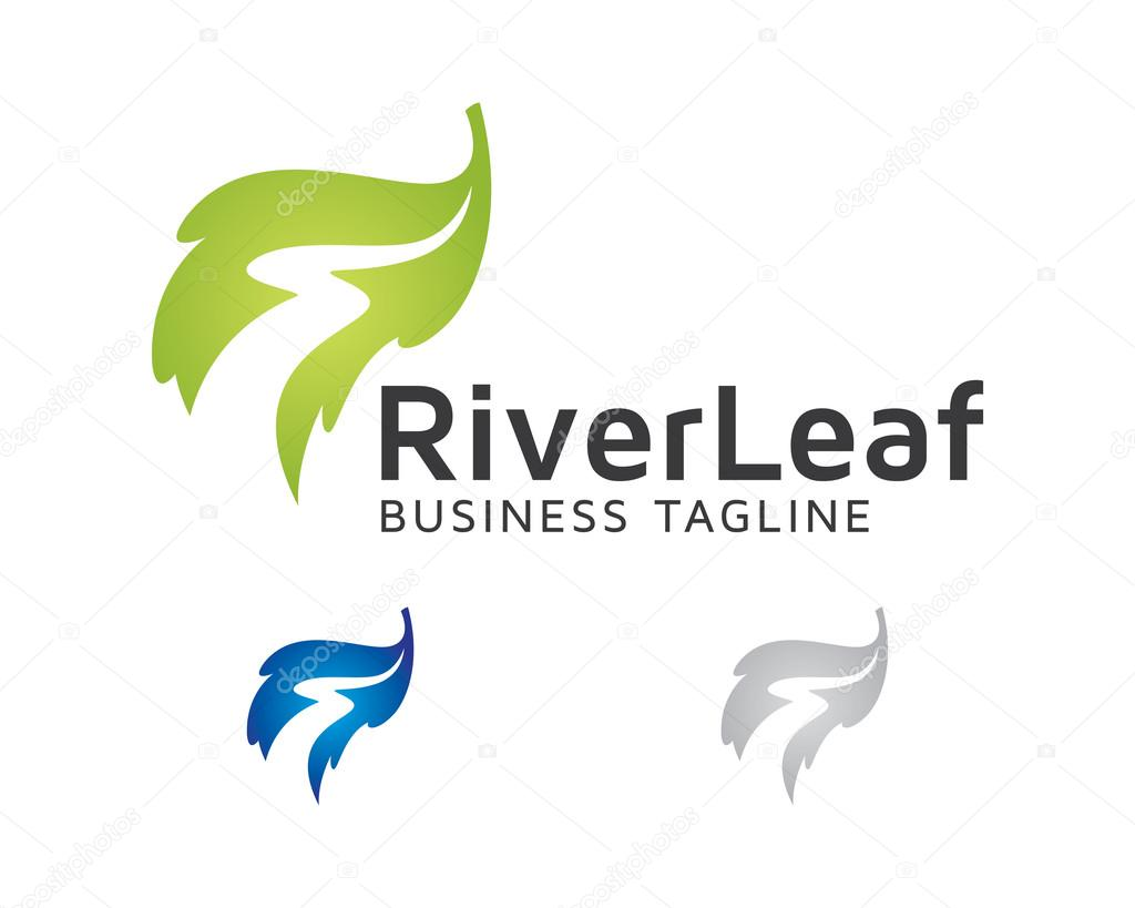 Vector Logo River Leaf