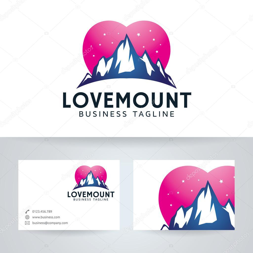 Lamour Montagne Studio Logo Vectoriel Avec Modle De Carte Visite Image Vectorielle