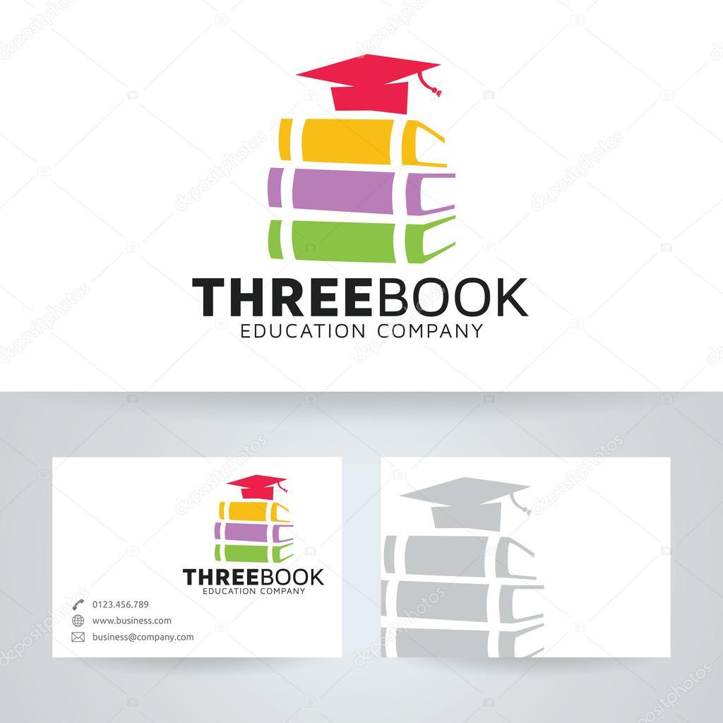 书logo_三本书矢量 logo 与名片模板 — 图库矢量图像© irfanfirdaus19.yahoo.com ...
