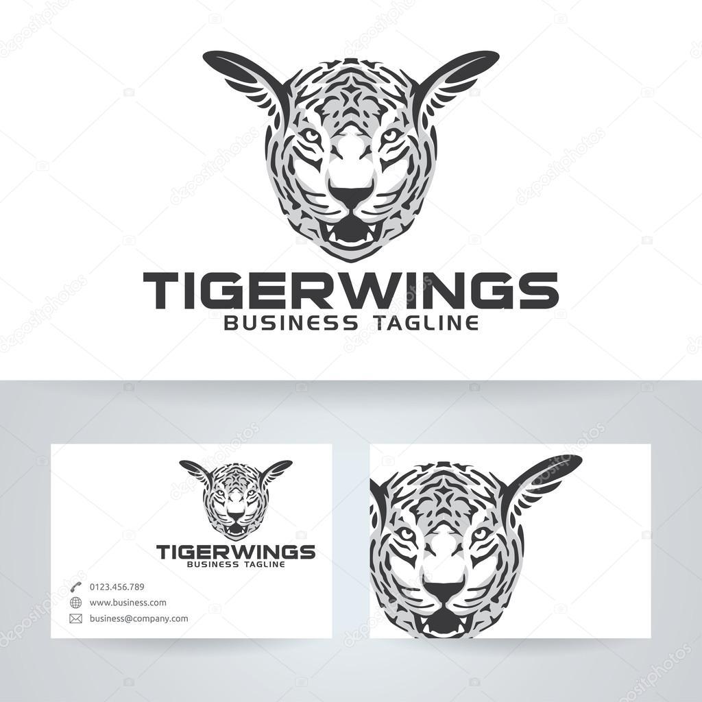 Ailes De Tigre Vector Logo Avec Le Modle Carte Visite Image Vectorielle