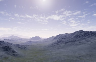 3d generated landscape