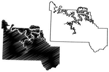 Camden County, Missouri (U.S. county, United States of America, USA, U.S., US) map vector illustration, scribble sketch Camden map icon