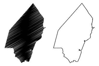 Kilifi County (Republic of Kenya, Coast Province) map vector illustration, scribble sketch Kilifi map icon