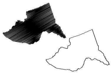 Meru County (Republic of Kenya, Eastern Province) map vector illustration, scribble sketch Meru map icon
