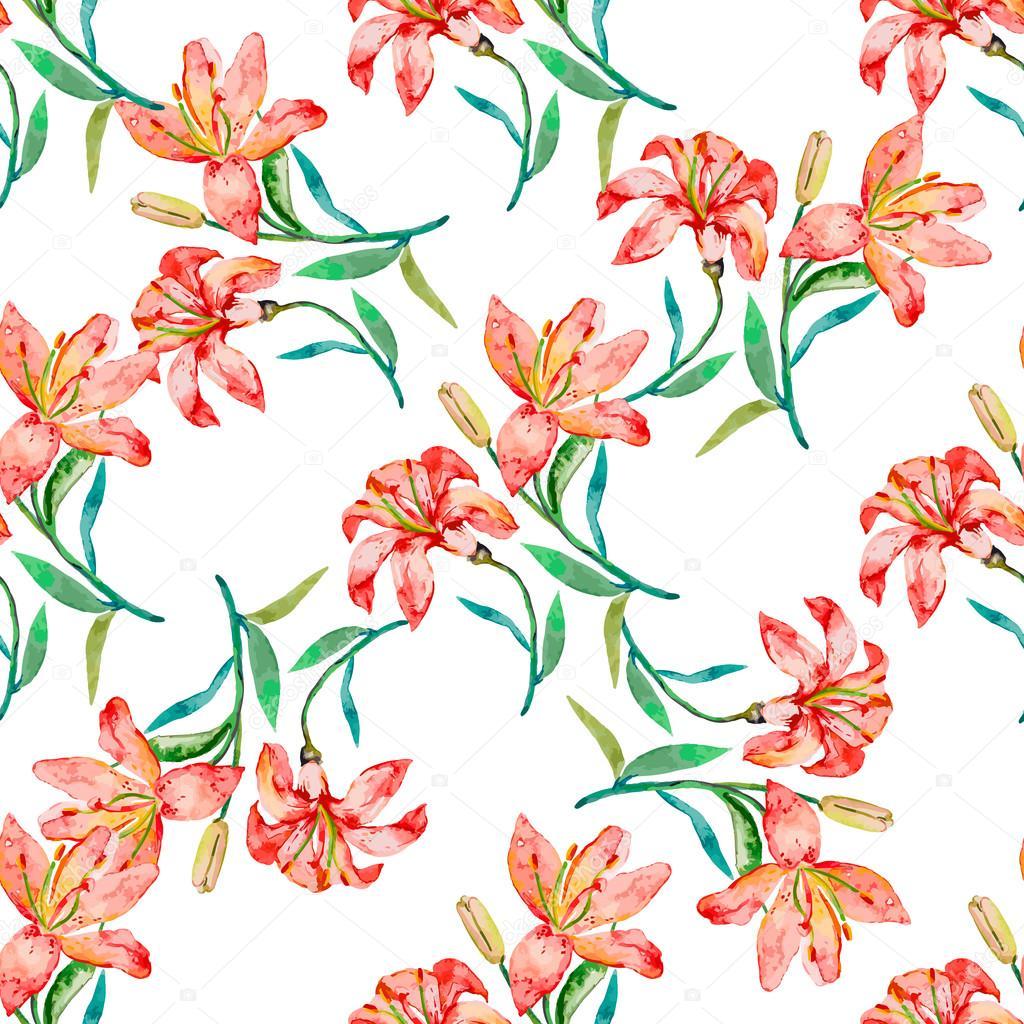 シームレス花柄。ユリの花 — ストックベクター © boyurelizaveta #98752184