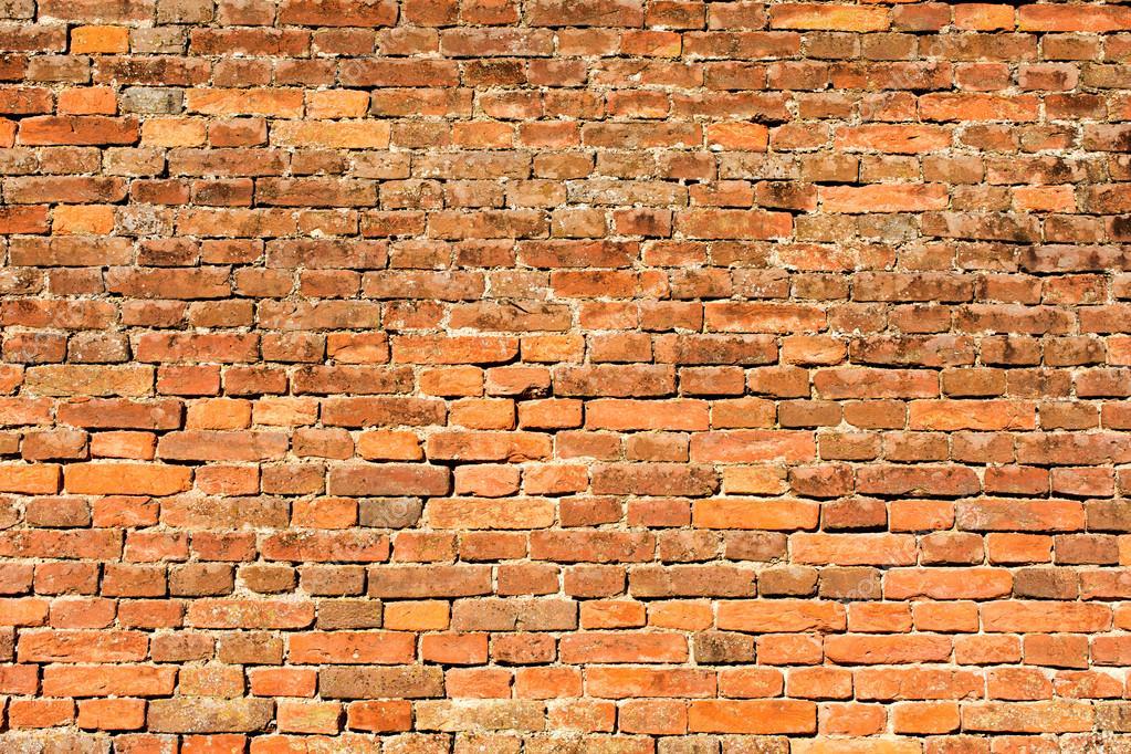 Muro De Ladrillo Rojo-naranja 2