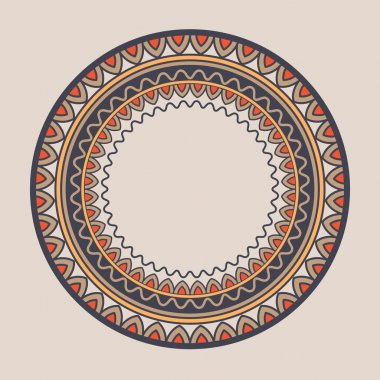 Kyrgyz national ornament with plate