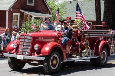 Vintage Firetruck on Parade