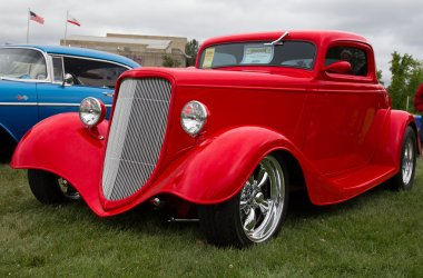 Red 1933 Ford Coupe
