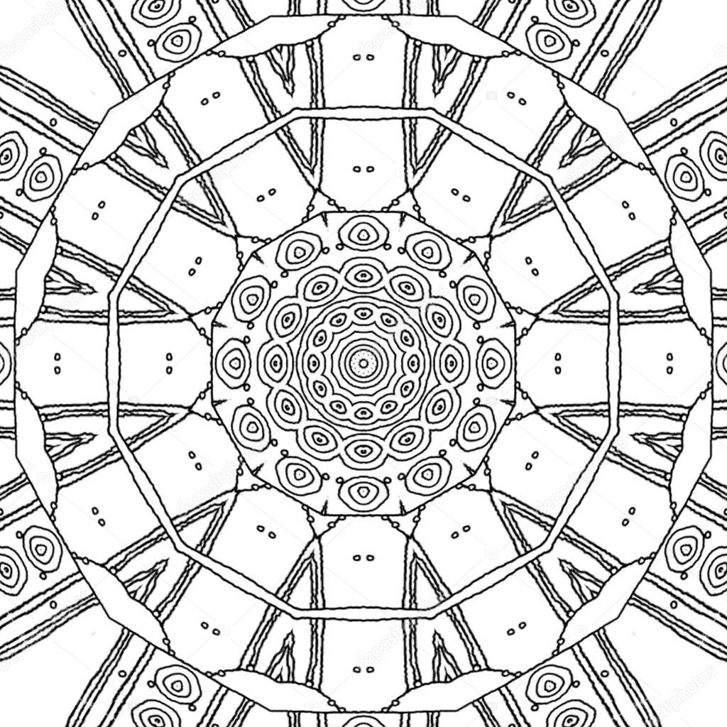 Boyama Sayfası Mandala Daire Desen Stok Foto Ur Design 106850676